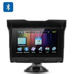 GPS AUTO GPS 5 pouces Moto - IPX5 Note étanche, Bluetooth,