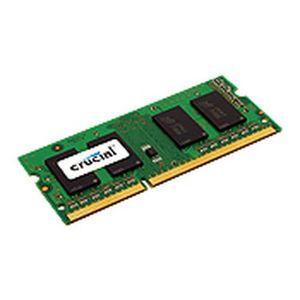 MÉMOIRE RAM Crucial 4GB, 4 Go, 1 x 4 Go, DDR3, 1600 MHz, 204-p