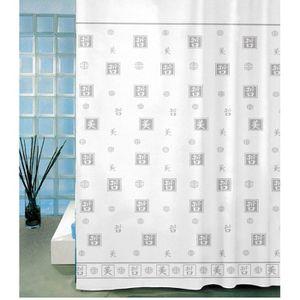 RIDEAU DE DOUCHE FRANDIS Rideau de douche textile gris Zen