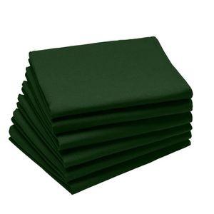 SERVIETTE DE TABLE Coucke - Lot de 6 serviettes de table unies en Cot