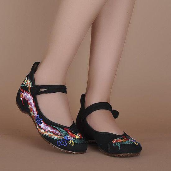 Baskets Chaussures Fille Femme Noir Noir - Achat / Vente basket