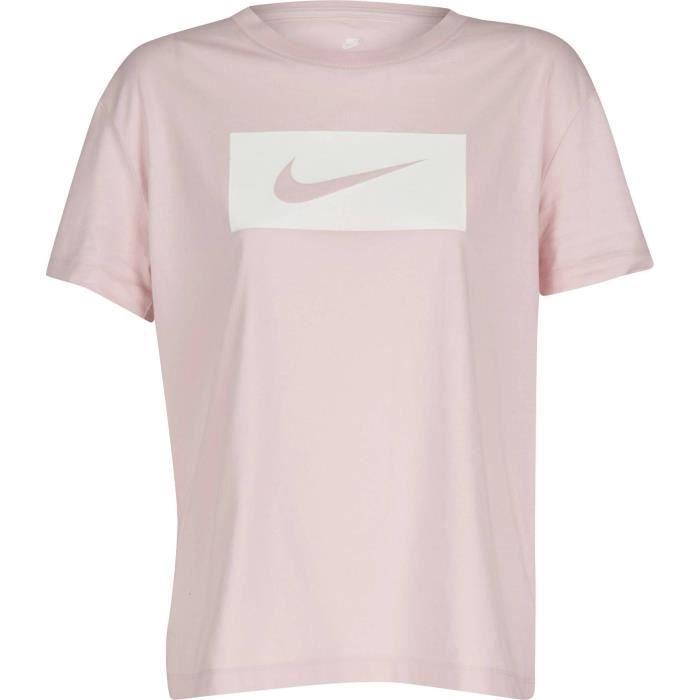 NIKE T-shirt Nsw Drop Tail Swsh - Femme - Rose