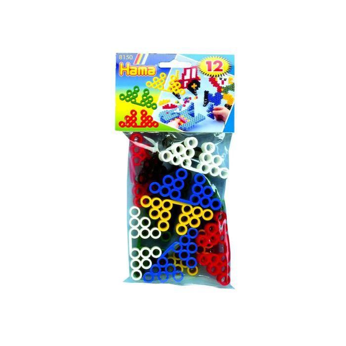 HAMA Sachet de 12 supports pour motifs réalisés de perles Maxi