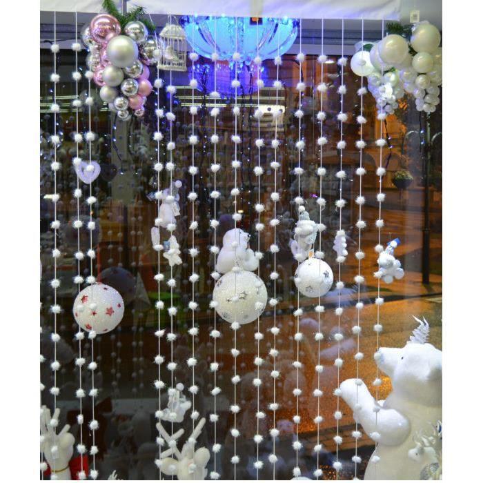 rideau fil d co boule coton avec reflet multicouleur 180m. Black Bedroom Furniture Sets. Home Design Ideas