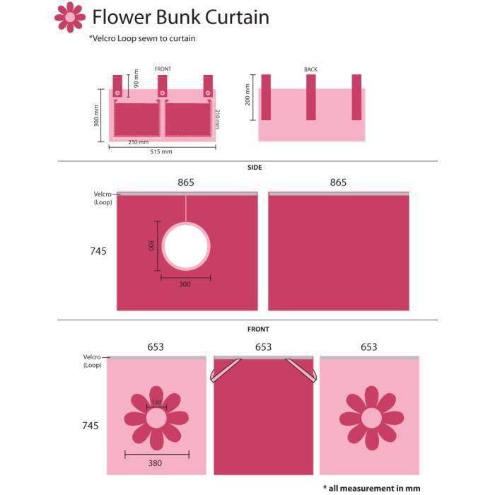 Tente pour lit mi-hauteur, thème fleur roze - Achat / Vente tente de ...