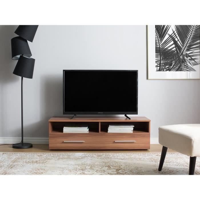 Meuble TV marron noyer Borgarnes - Achat / Vente meuble tv Meuble TV ...