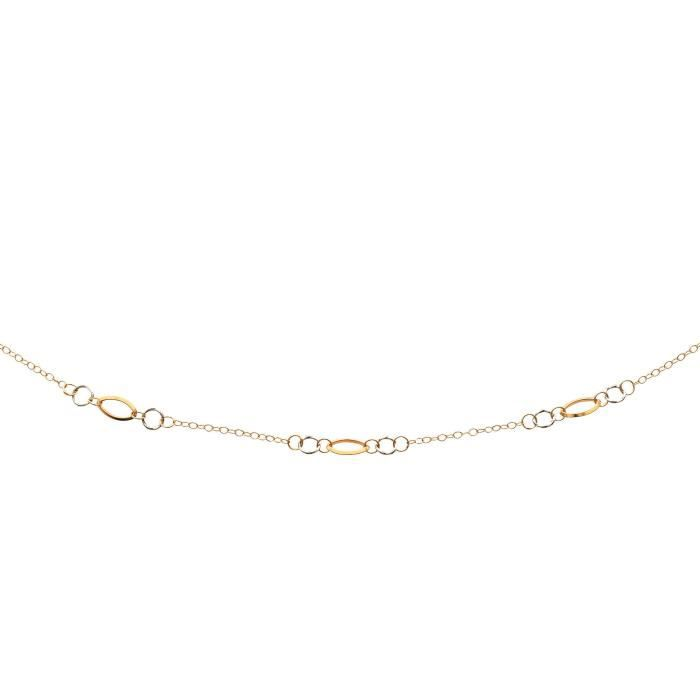 DIAMANTLY Collier 3 jeux maille ovales-rondes or 750-1000 - 42.0 cm