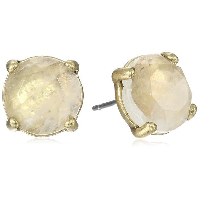 Lucky Brand Womens Rock Crystal Stud Earring, Gold, One Size WQCPD