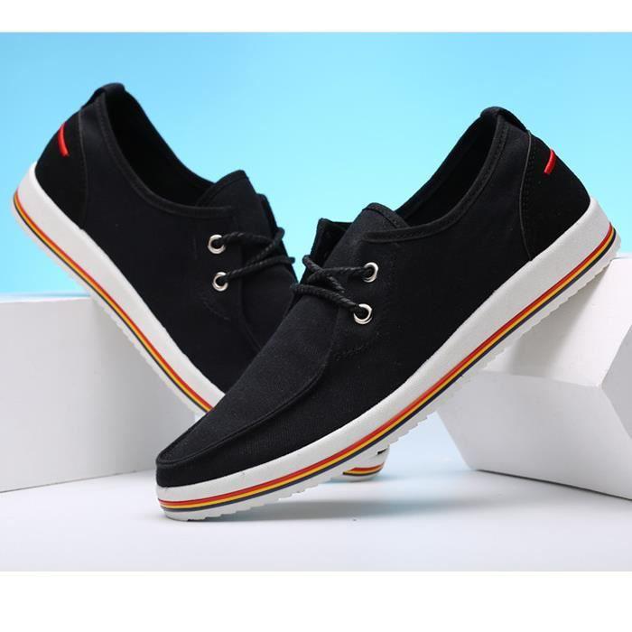 chaussures de toile à la mode à lacets tendance...