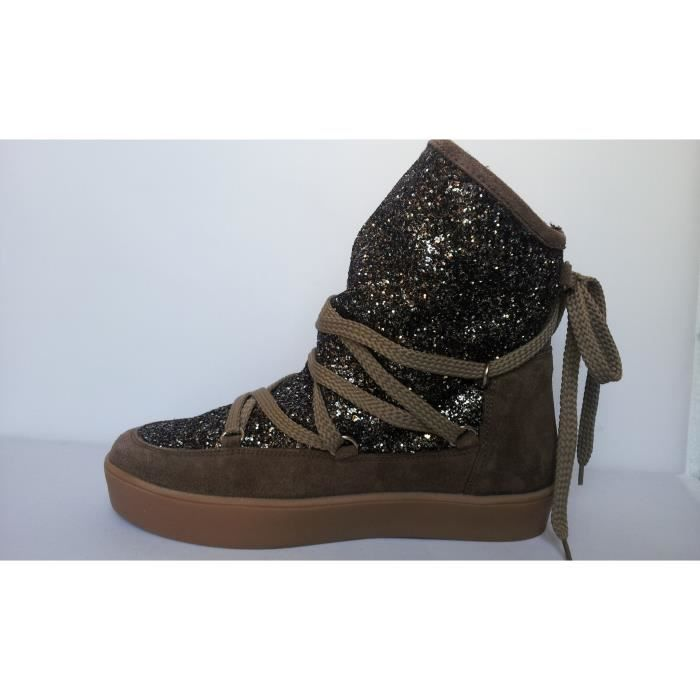 BOOTS BANKISE SPARKLE TAUPE NmBUTOq