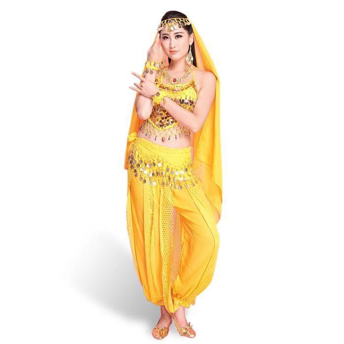 172ad2070bd91 Femme Déguisement Belly Danse du Ventre ensemble de 7 Pièces Costume ...