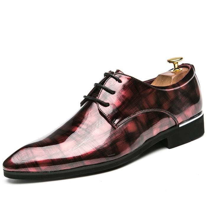 dérapage Hommes Chaussures Cuir Derby Anti wHq0WEpE