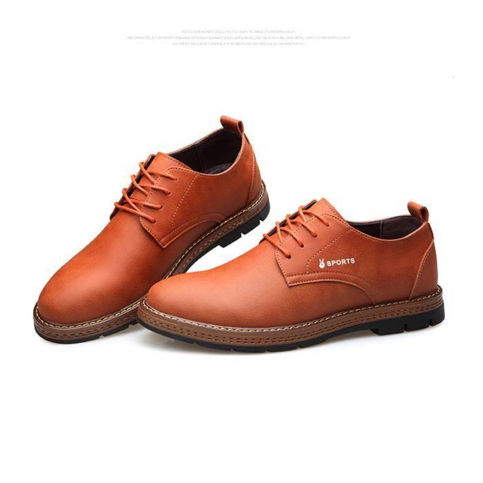 Chaussures Hommes Cuir Confortable mode Homme chaussure de ville BBDG-XZ194Rouge39