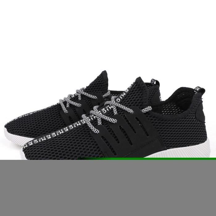 Chaussures De Sport Pour Hommes Textile De Course Populaire BBZH-XZ130Bleu39