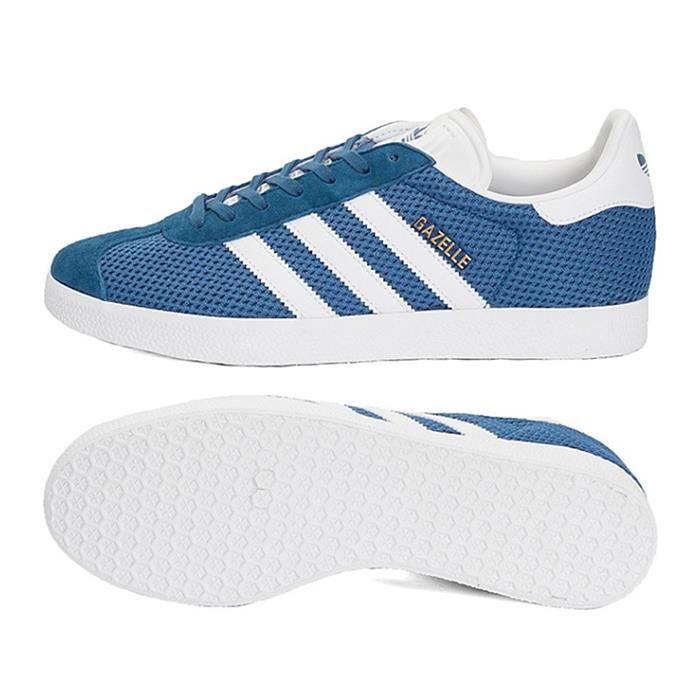 Achat Basket Adidas Homme Gazelle Chaussures Vente Bleublanc 81ITq