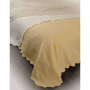 couvre lit pique de coton blanc achat vente couvre lit pique de coton blanc pas cher. Black Bedroom Furniture Sets. Home Design Ideas