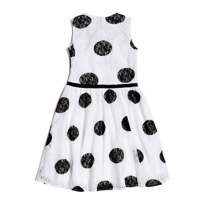 Guess Robe à pois Fille Blanche