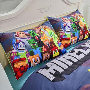 Parure de lit minecraft achat vente parure de lit for Housse de couette pour lit 140