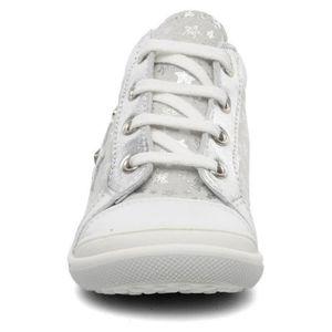 Bopy Baskets Bébé Cuir Blanc Argent Etoiles (22 - Large - blanc) ZMBPg21o
