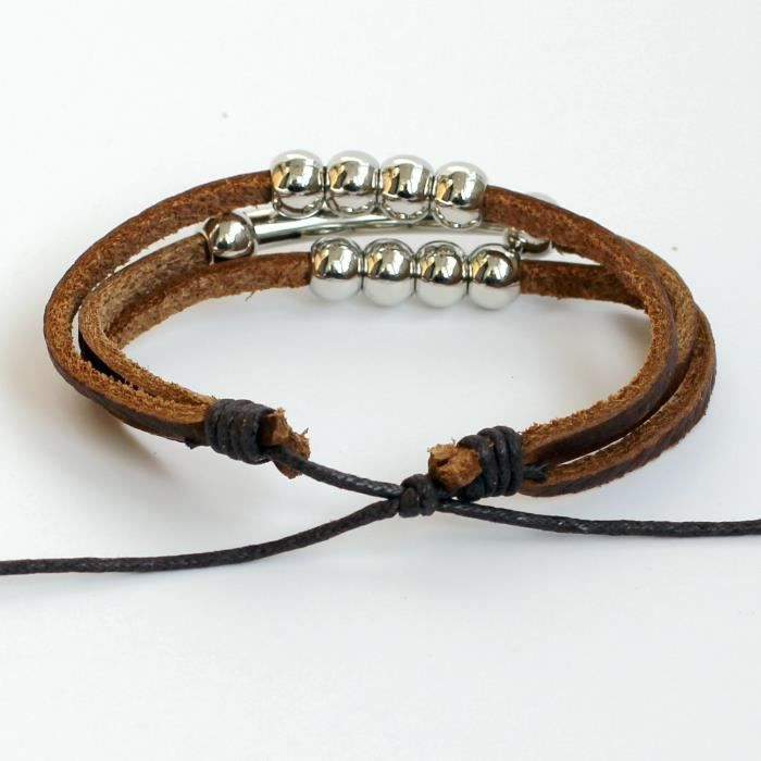 Womens Leather Bracelet Leather Bracelet Beads Bracelet Tubes Bracelet Leather Bands Bracelet Leat EH7HE