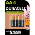 PILES DURACELL 4 Piles Rechargeables UP LR06/AA