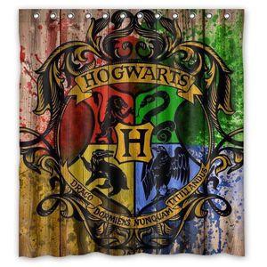RIDEAU DE DOUCHE 33 Rideau de douche  Arrivée Harry Potter tissu im