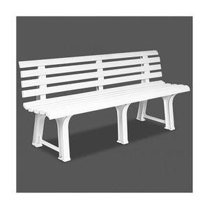 Banc de jardin blanc - Achat / Vente pas cher - Cdiscount