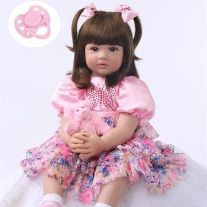 5429595281e4b POUPÉE 61 cm Silicone Renaît Bébé Fille Poupée Douce Poup