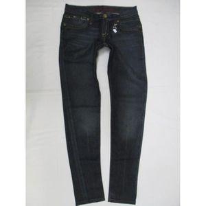 7e1e15bb Jeans femme taille basse coupe droite - Achat / Vente pas cher