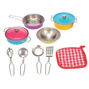 DINETTE - CUISINE Playgo - Coffret de vaisselle colorée