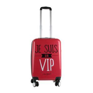 VALISE - BAGAGE Valise cabine rigide 58cm rouge Je suis un VIP