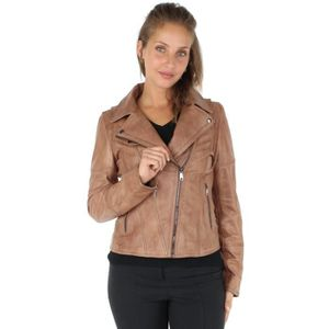 Blouson en cuir femme - Achat   Vente Blouson en cuir Femme pas cher ... 2133c22bd49