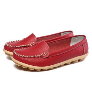 Napoulen®Loisirs floral imprimer patin Chaussures Slip sur Flats mocassins Rouge-XYY70808514RD prEGqHV