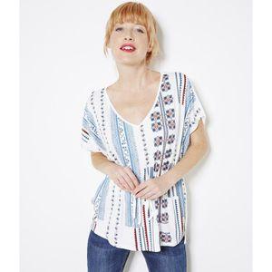 4b4eba4640d7 T-SHIRT Camaieu - T-shirt femme imprimé TAFNATIVE CRAIE ...