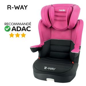 SIÈGE AUTO NANIA Rehausseur dossier R way luxe  Groupe 2-3 -