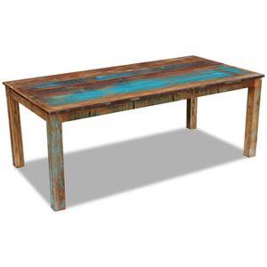 TABLE À MANGER SEULE vidaXL Table de salle à manger Bois récupération 2