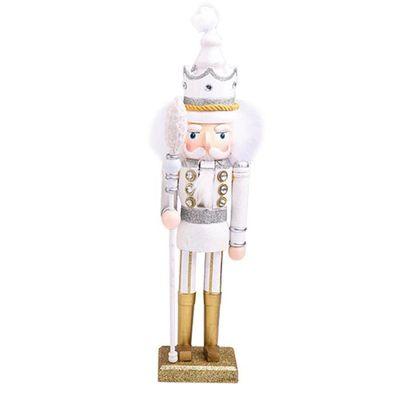 Leegoal Marionnette Cadeau De Noel Mariage Nouvel An Cadeau D Anniversaire Casse Noix Moelleux Blanc
