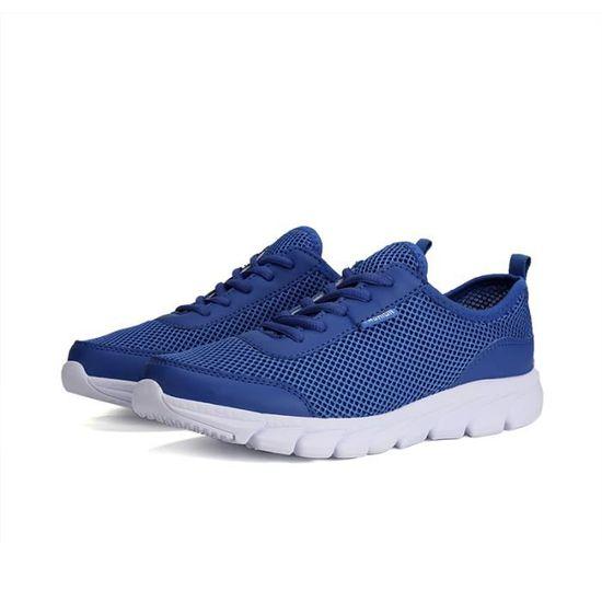 Chaussures De Course Running Sport Homme Baskets Chaussure De Mode Homme Bleu Bleu - Achat / Vente basket