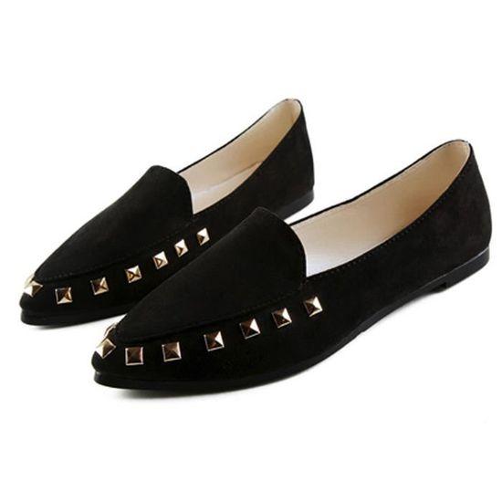 Appartements Rivet Ladies Comfy Chaussures femme Soft Slip-On Chaussures bateau Casual  Noir Noir Noir - Achat / Vente slip-on
