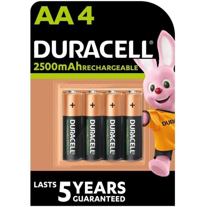 DURACELL Piles Rechargeables UP AA X4