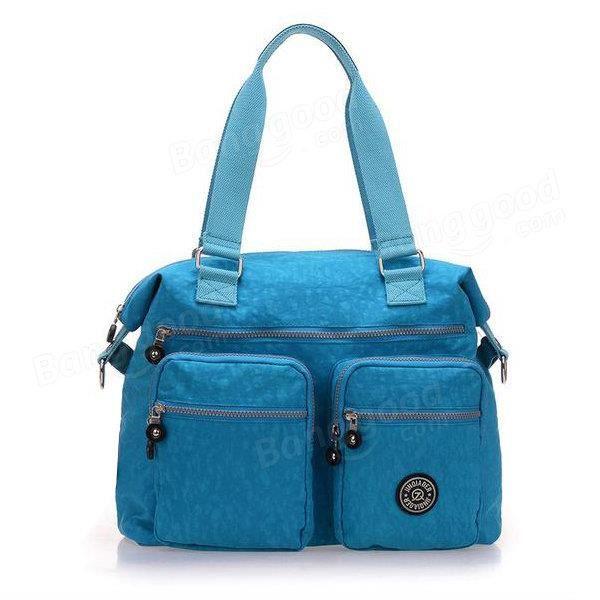 SBBKO3116Femmes sacs à main en nylon occasionnels sacs à bandoulière imperméable poche multiples crossbody extérieure sacs Ciel Bleu