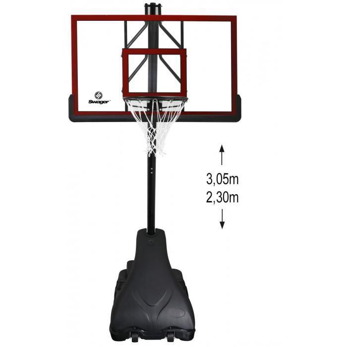 Panier Bio Pas Cher Montreal : Swager platinium panier de basket deluxe sur pied prix