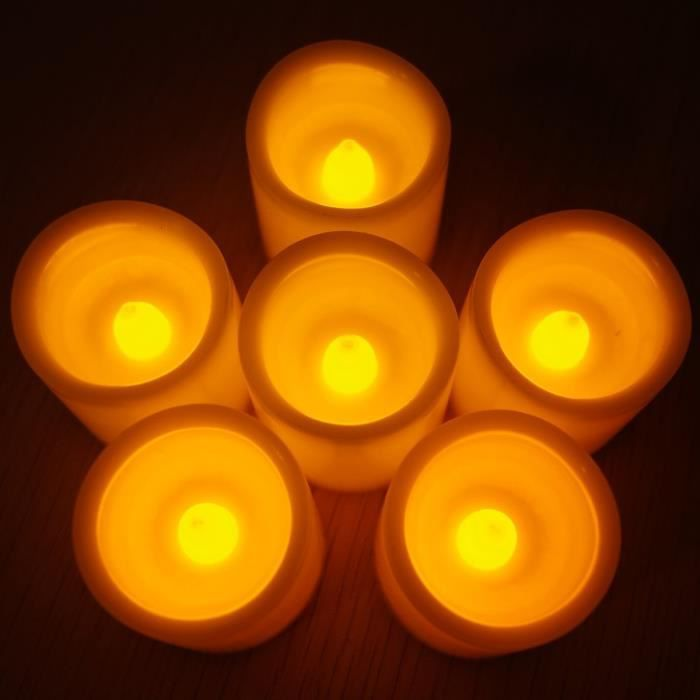 lot 6 bougies led pile batterie longue dur e achat vente bougeoir chandelier cdiscount. Black Bedroom Furniture Sets. Home Design Ideas