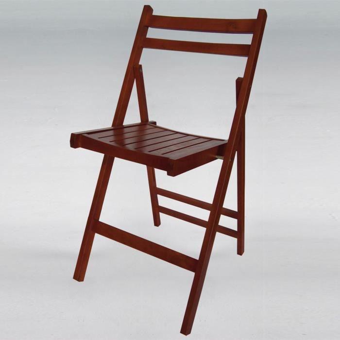 chaise pliante en bois weng de achat vente chaise. Black Bedroom Furniture Sets. Home Design Ideas