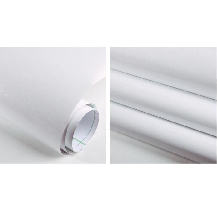 Papier Peint Auto Adhesif D Autocollant Decoratif Impermeable De Film Pour Le Blanc De Meubles De Cuisine