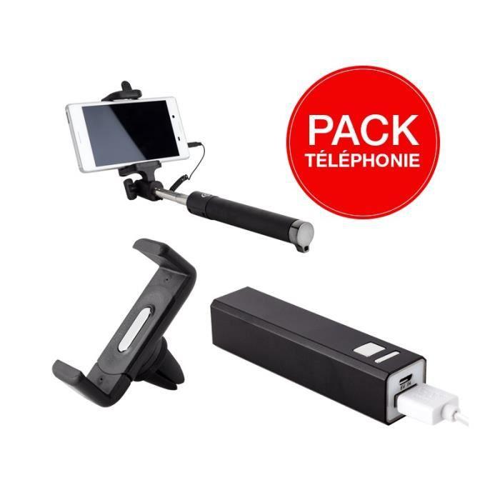 FIXATION - SUPPORT Accessoires téléphone: Perche à Selfie + Batterie