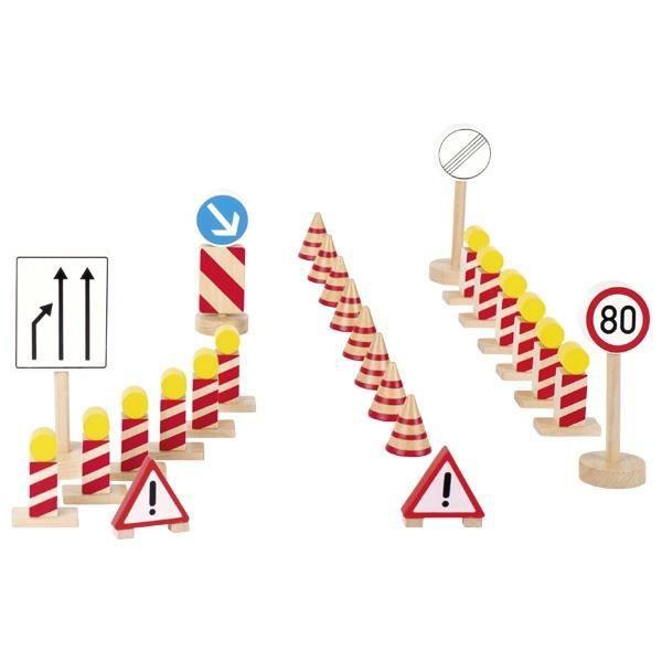 Panneaux De Signalisation En Bois De Chantier Goki 26pcs Achat