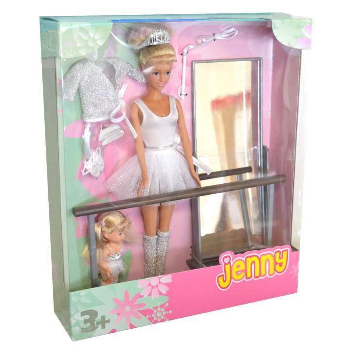 Poupée Jenny et Laura Ballerines   Tenue blanche - Achat   Vente ... 0a1f459dd6e6