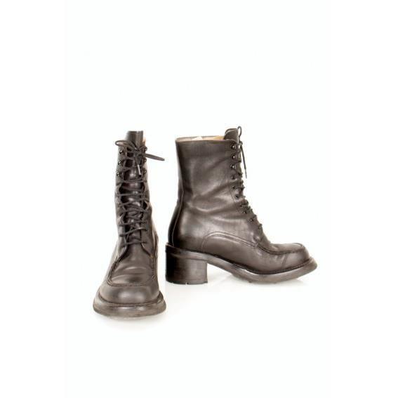 Free Lance Boots à Lacets En Cuir Grande Remise En Vente DEoSDYu