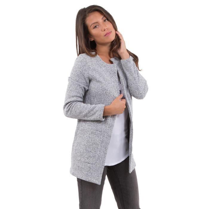 Manteau gris mi long